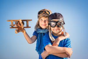 Jeunes pilotes d'avion